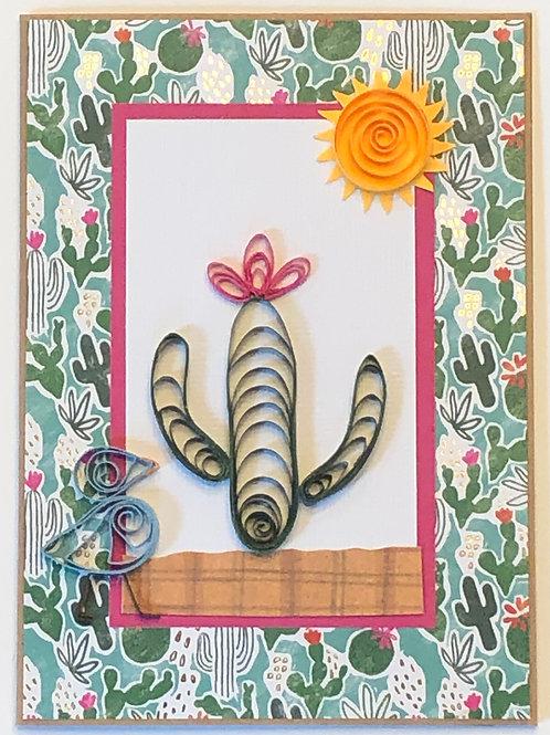 Blue Bird Series – Desert and Cactus Design