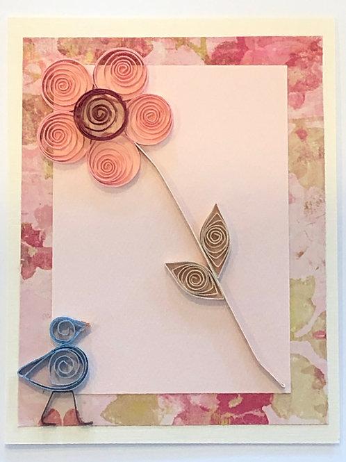 Blue Bird Series-Five Petal Flower (Pink and Maroon)