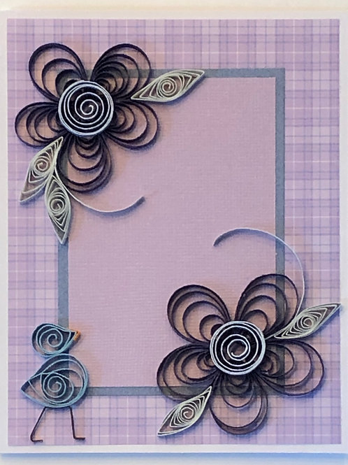 Blue Bird Series – Purple and Blue Floral Design