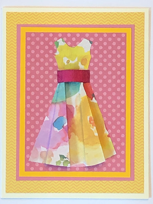 Origami Series –Pink and Yellow Dress