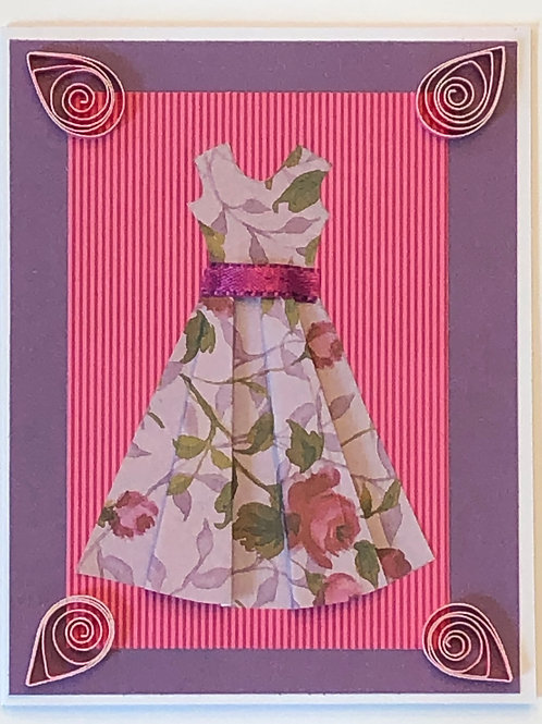 Origami Series – Pink and Purple Floral Dress