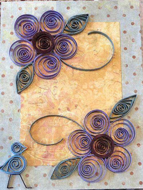 Blue Bird Series – Five Petal Flowers - Shades of Purple