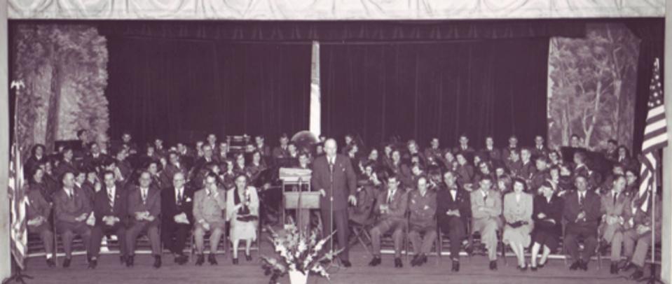 Harold Stassen in Auditorium