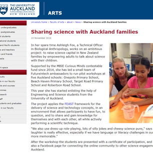 Sharing science with Auckland families