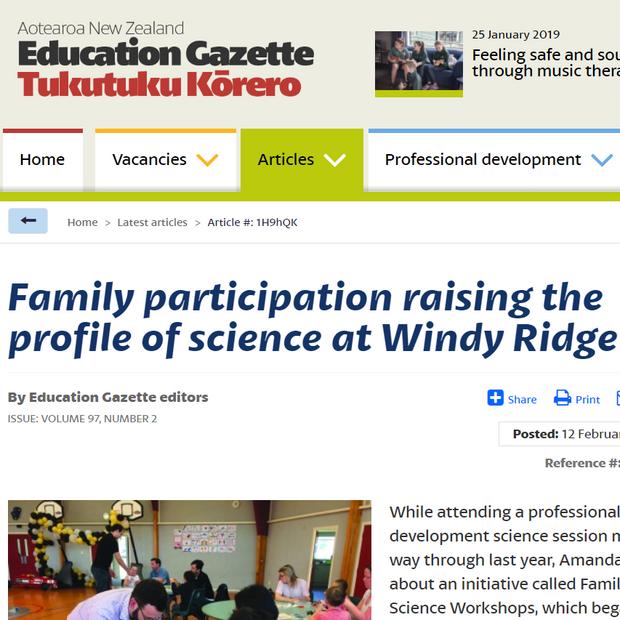 FSW makes the Education Gazette