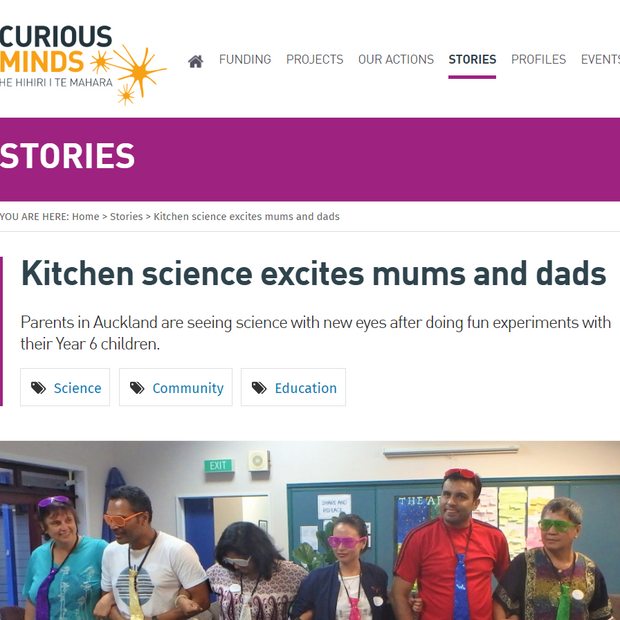 Kitchen science excites mums and dads
