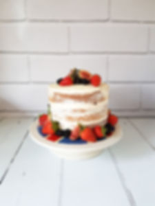 Semi Naked Rustic Buttercream Vegan Cake