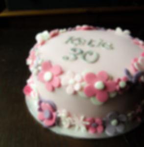 Fondant Flower Floral Pink Cake