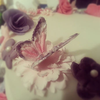 Sugar Butterfly Cake Decoration