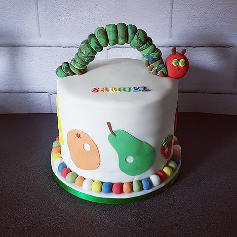 Very Hungry Caterpillar Christening Cake