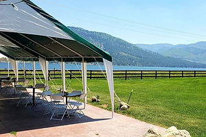 Vallecito location with canopy and lake view