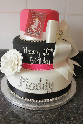 3 Tier pink, black and white