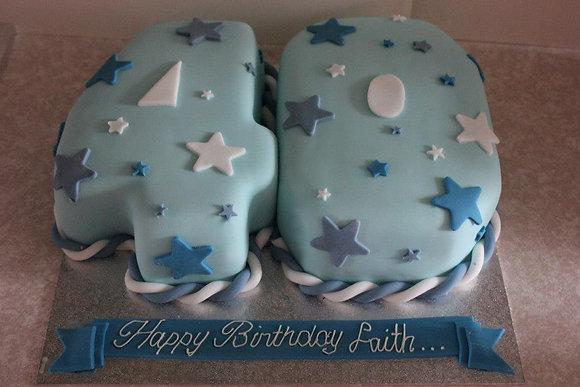 Stars & twist number cake