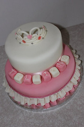 2 Tier Carriage princess cake