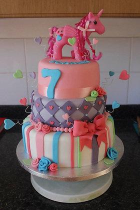 3 Tier My little pony cake