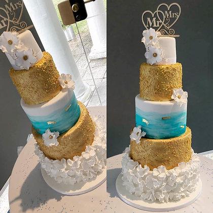 Cassie Wedding cake