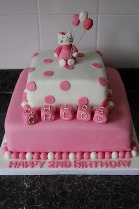 2 Tier hello kitty cake