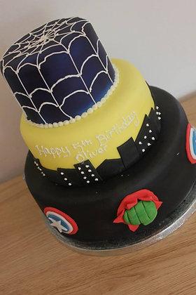 3 Tier deluxe superhero cake