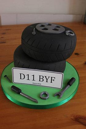 Double Tyre cake
