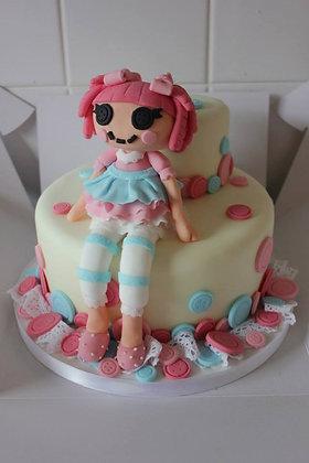 2 Tier La la loopsy cake