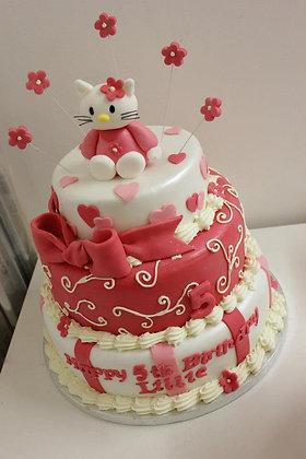 3 Tier Hello kitty cake