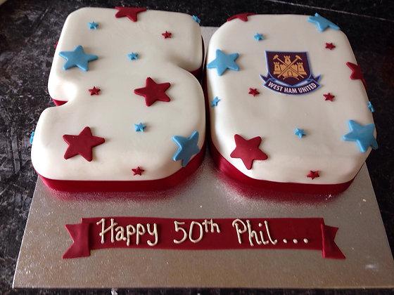 Football team cake