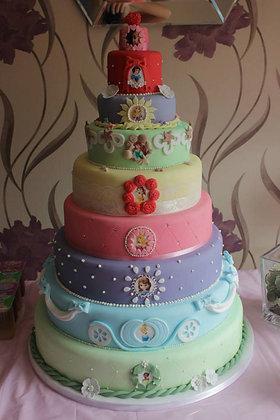 Deluxe Disney Princess Cake