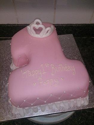Frill and tiara cake