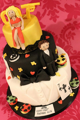 3 Tier 007 james bond cake