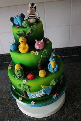 3 Tier jungle junction cake