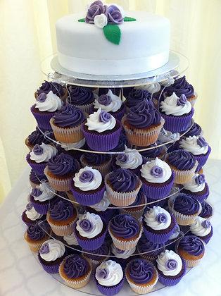 Rose & Sprinkles cupcakes