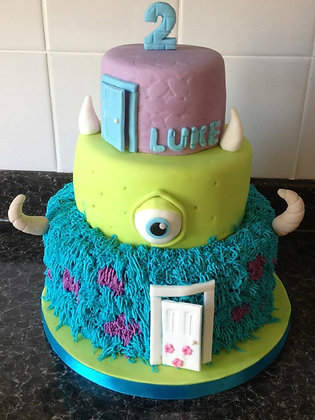 3 Tier monsters inc cake