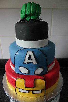 3 Tier superhero cake