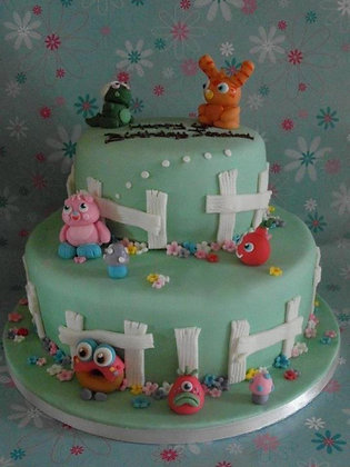 2 Tier Moshi Monsters cake