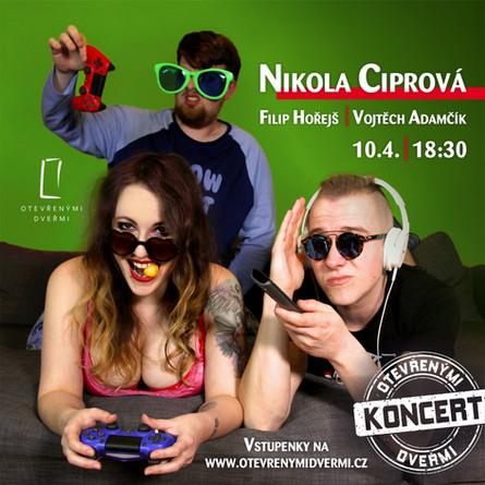 Nikola Ciprová - koncert Otevřenými dveřmi