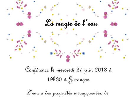 27 juin : Conférence La magie de l'eau