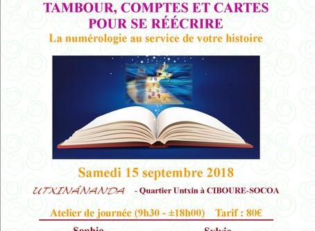 """15/09 - Ciboure : Atelier de (re)mise en lumière """"Tambour, comptes et cartes pour se réécrire"""""""