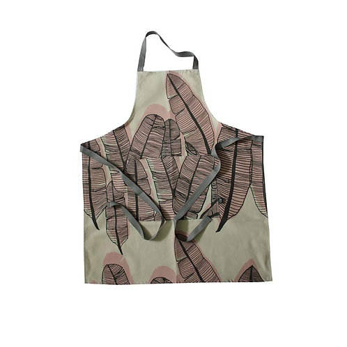 Adult Apron in Banana Leaf pink