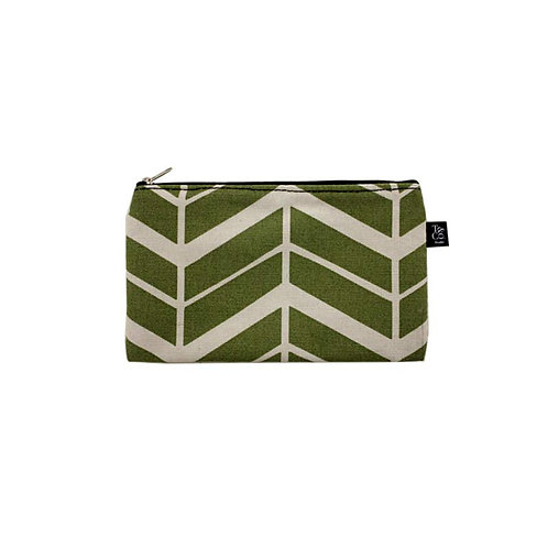 Cosmetic bag in Flow algae green