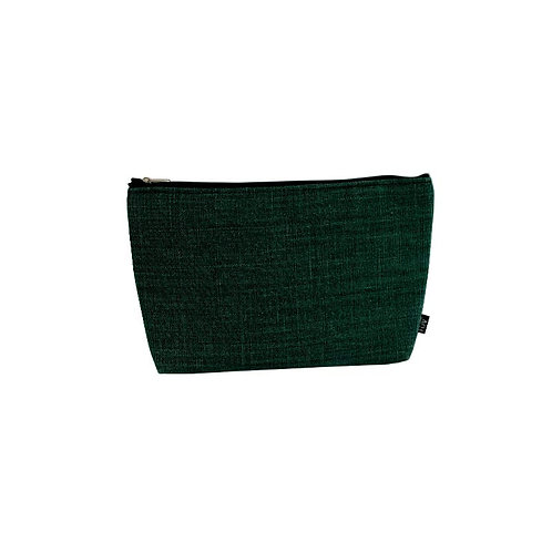 Toiletry bag linen fir green