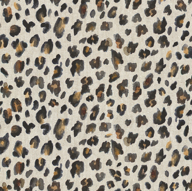 Large Leopard charcoal on linen