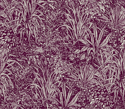 Jungle Linen col. Plum