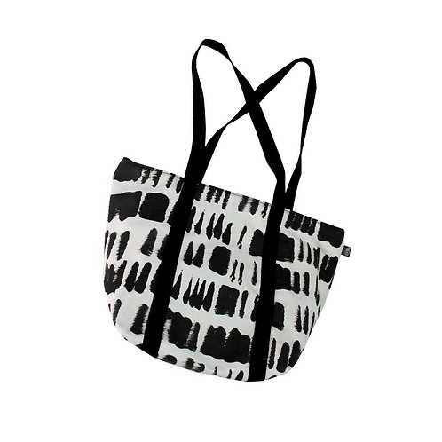 Bucket bag in brushstrokes