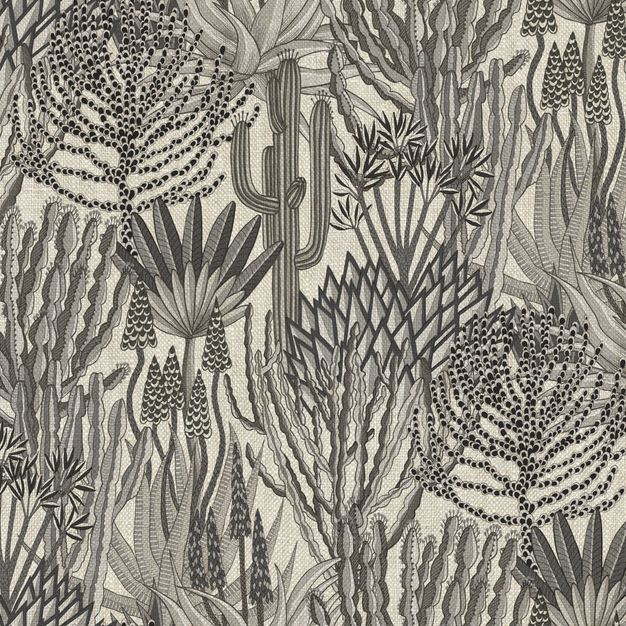 Euphorbia Forest Charcoal on linen
