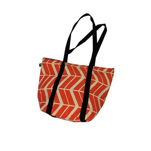 Bucket bag in Flow Firetree orange