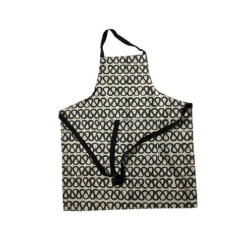 Adult Apron in Wave coal