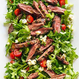 Steak, Salad and Rice
