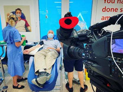 Blood Plasma Story for ITV News