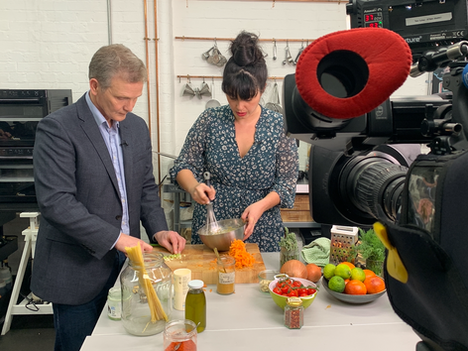 Filming 'Eat Them to Defeat Them' For ITV News