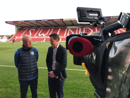 Live at Swindon Town FC - Swindon Cameraman